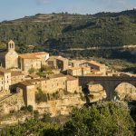 The medieval village of Minerve in the Minervois region of Languedoc, France