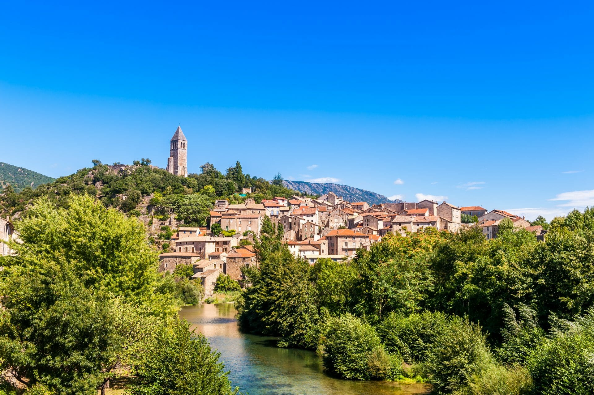 Village d'Olargues, Hérault, Occitanie, France